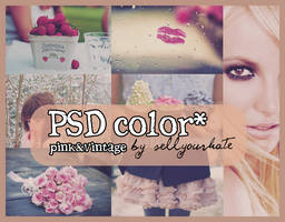 PSD COLOR: Pink and Vintage