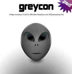 GreyCon Alien Head