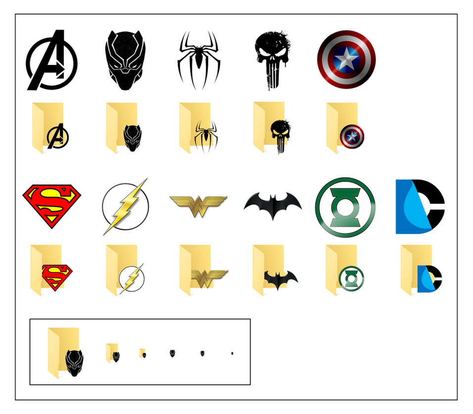 Superhero Icons For Windows 10 by JeremyMallin