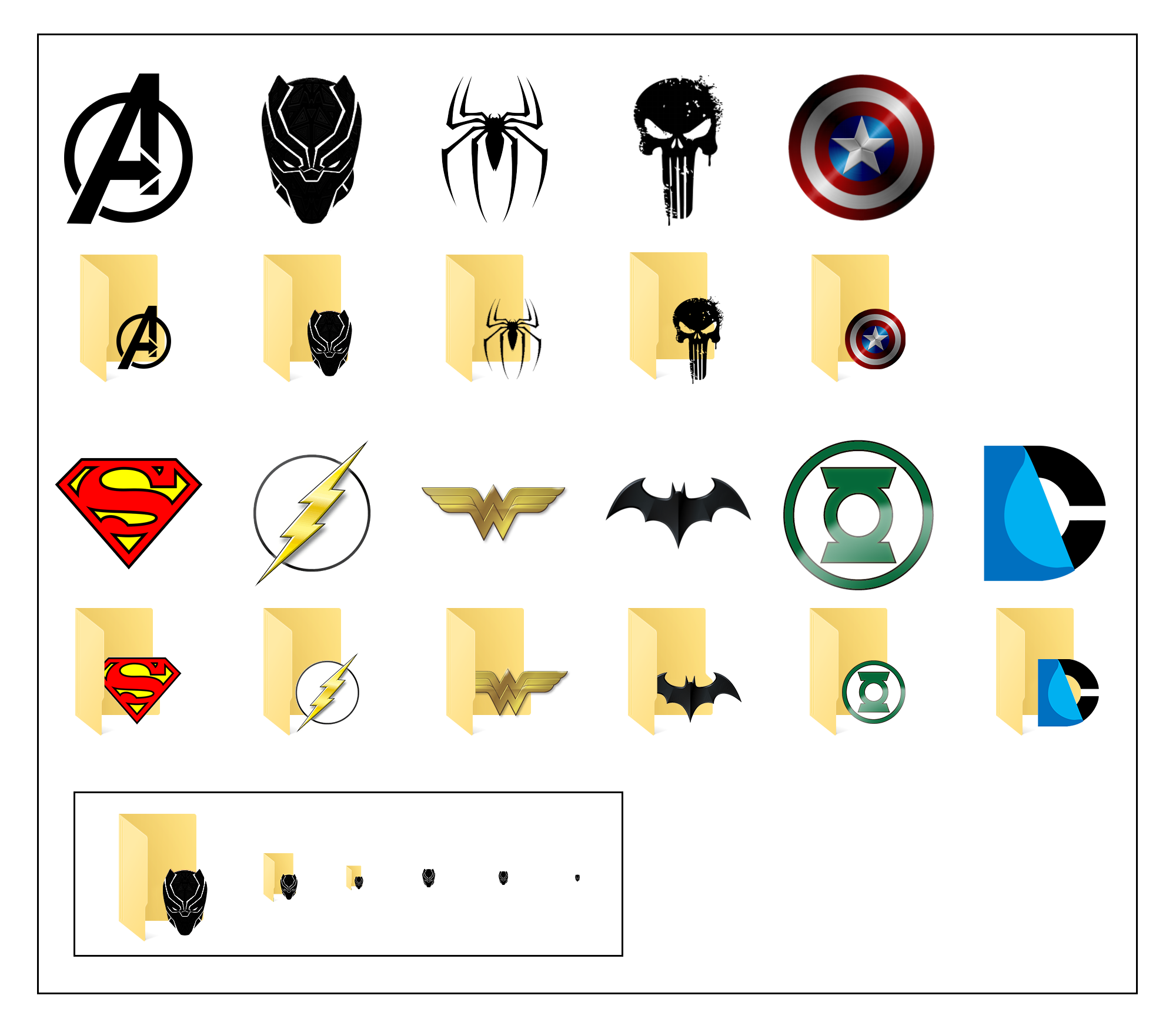 Superhero Icons For Windows 10 by JeremyMallin