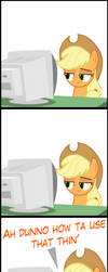 Applejack vs. Computer #99999999(9) by MrKat7214