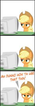 Applejack vs. Computer #99999999(9) by MrKat7214