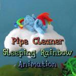 Pipe Cleaner Sleeping Rainbow Dash Animation