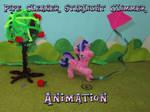 Pipe cleaner Starlight kite flying animation