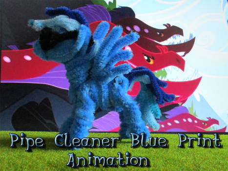 Pipe Cleaner Blue Print Animation