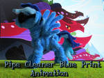 Pipe Cleaner Blue Print Animation by Malte279