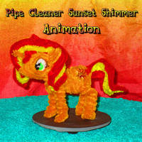 Pipe Cleaner Sunset Shimmer animation color enhanc