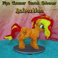 Pipe Cleaner Sunset Shimmer Animation