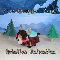 Pipe-Cleaner-Yona-Rotation-Animation