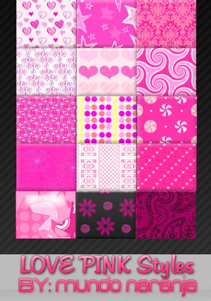Pink styles- Estilos Rosa by mundonaranja