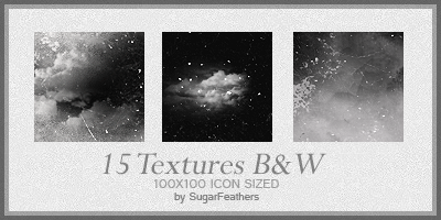 Black and White icon textures by SugarFeathers