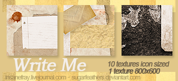 WRITE ME textures by SugarFeathers