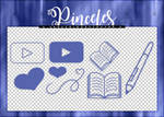 [F2U] Pinceles (brushes)| Pack #01 by Lady-Whitee-Queen
