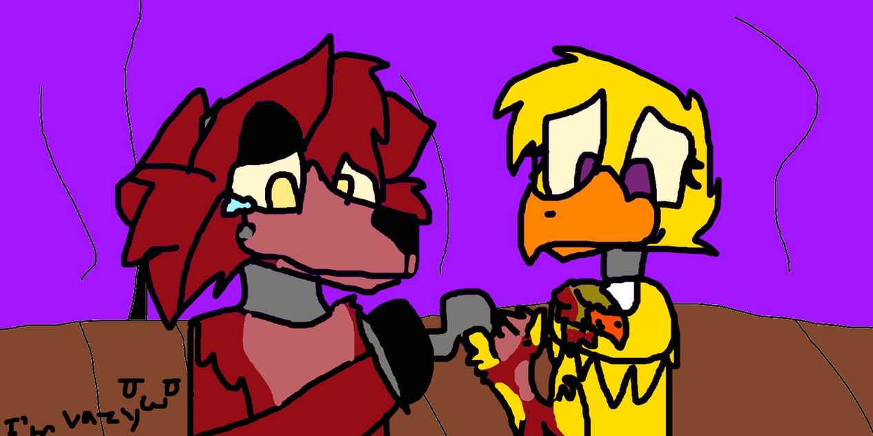 And bored i draw fnaf or foxica by sparky the dog anima on deviantart