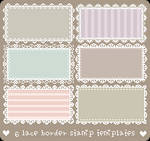 6 Free Lace Stamp Borders