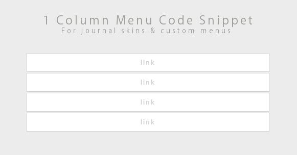 Code Snippet - 1 Column Menu by Gasara