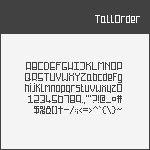 [TallOrder] Pixel Font
