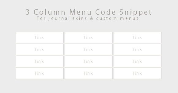 Code Snippet - 3 Column Menu by Gasara