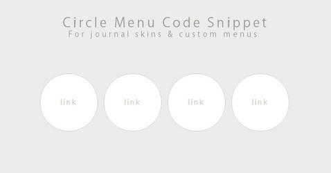 Code Snippet- Circle Menu by Gasara