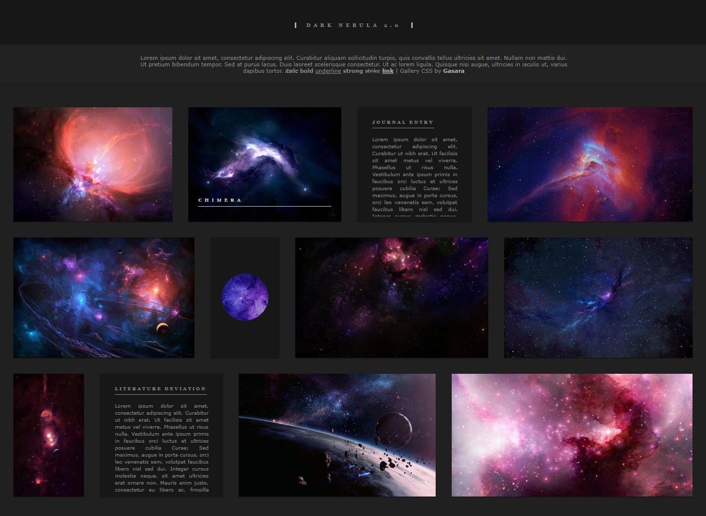 Dark Nebula 2.0 Gallery CSS by Gasara