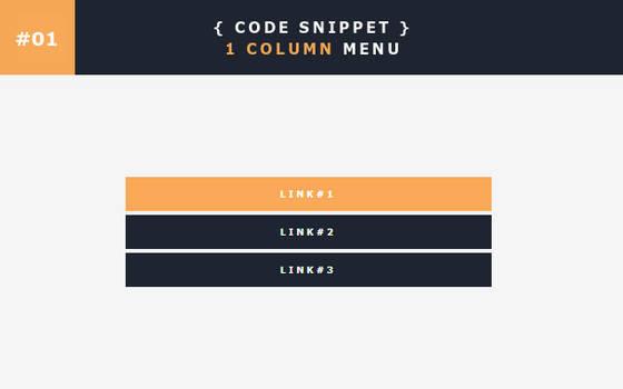 [01] Code Snippet - 1 Column Menu
