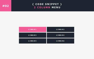 [02] Code Snippet - 2 Column Menu by Gasara