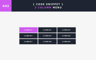 [03] Code Snippet - 3 Column Menu