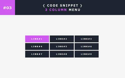 [03] Code Snippet - 3 Column Menu by Gasara