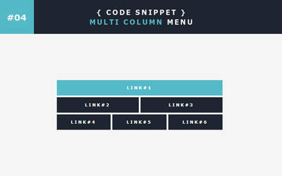 [04] Code Snippet - Multi Column Menu