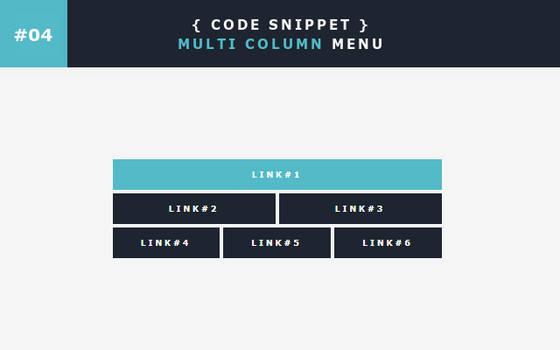 [04] Code Snippet - Multi Column Menu