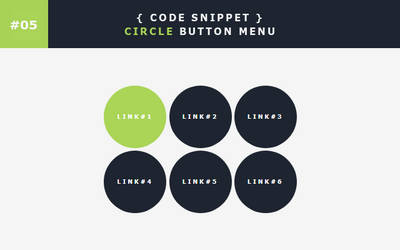 [05] Code Snippet - Circle Button Menu