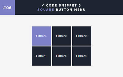 [06] Code Snippet - Square Button Menu