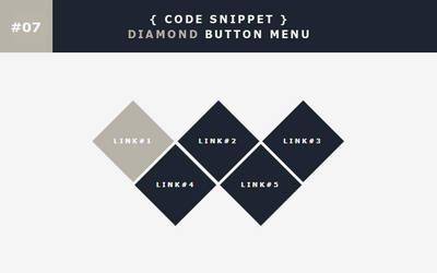 [07] Code Snippet - Diamond Button Menu