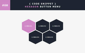 [08] Code Snippet - Hexagon Button Menu by Gasara