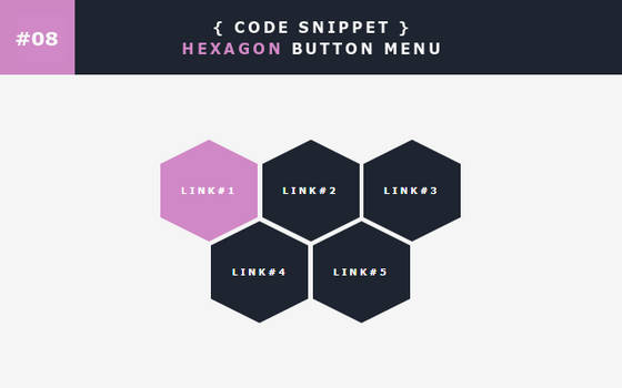 [08] Code Snippet - Hexagon Button Menu