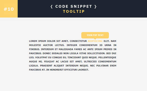 [10] Code Snippet - Tooltip