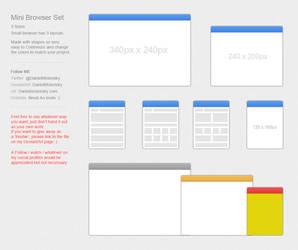Mini Browser set PSD Free