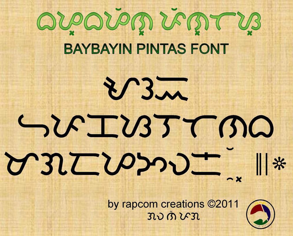 Baybayin Pintas Font by renpaga