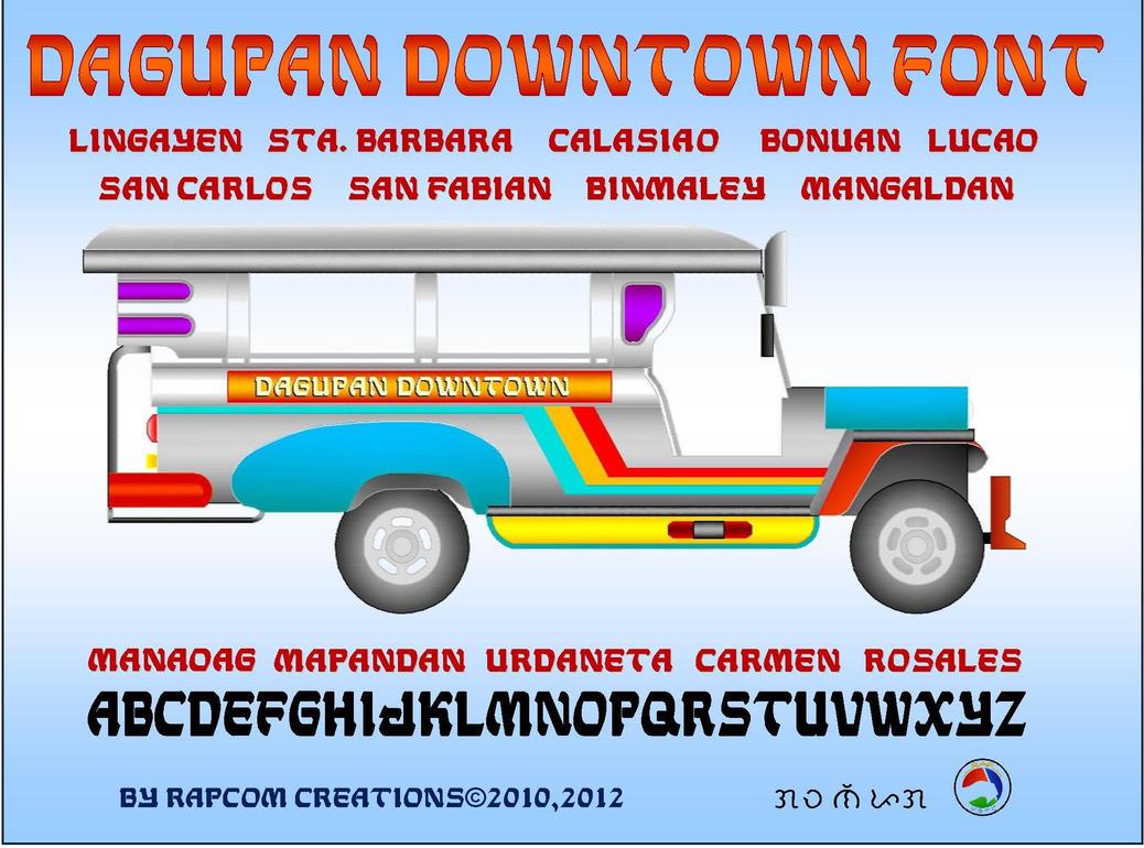 Dagupan Downtown Font by renpaga