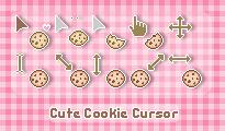 Cute Cookie Cursor by sosogirl123