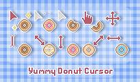 Yummy Donut Cursor by sosogirl123