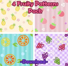 4 Cute Fruity Patterns Pack
