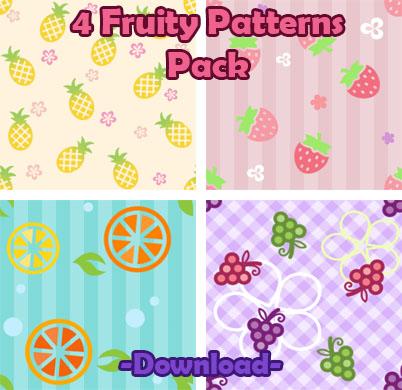 40 Cute Fruity Patterns Pack By Sosogirl40 On DeviantArt Best Cute Patterns