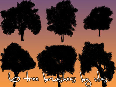 6 Tree Brush Set by v-k-s