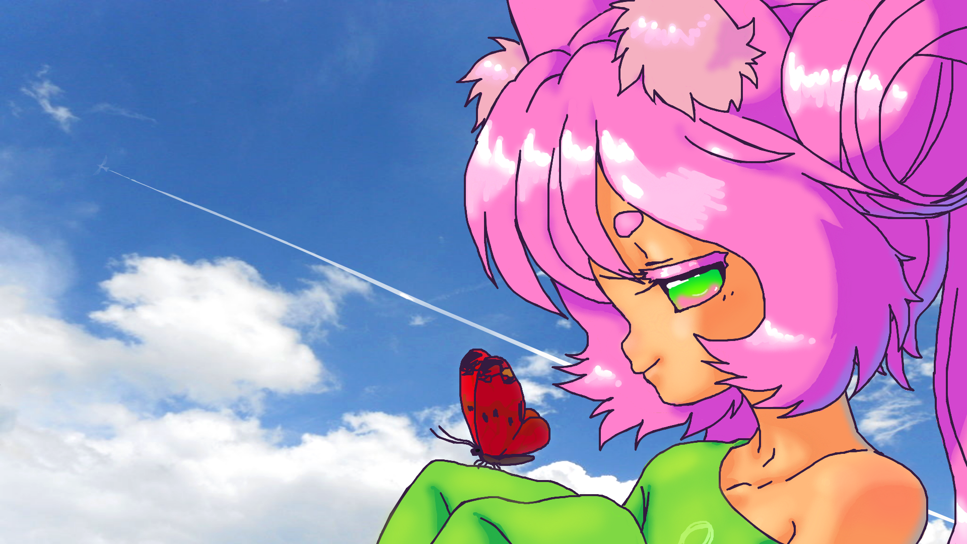 Butterfly in the Sky by Rakugaki-otoko