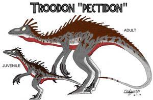 JP: Troodon 'pectidon' V.2 by Sinncrow
