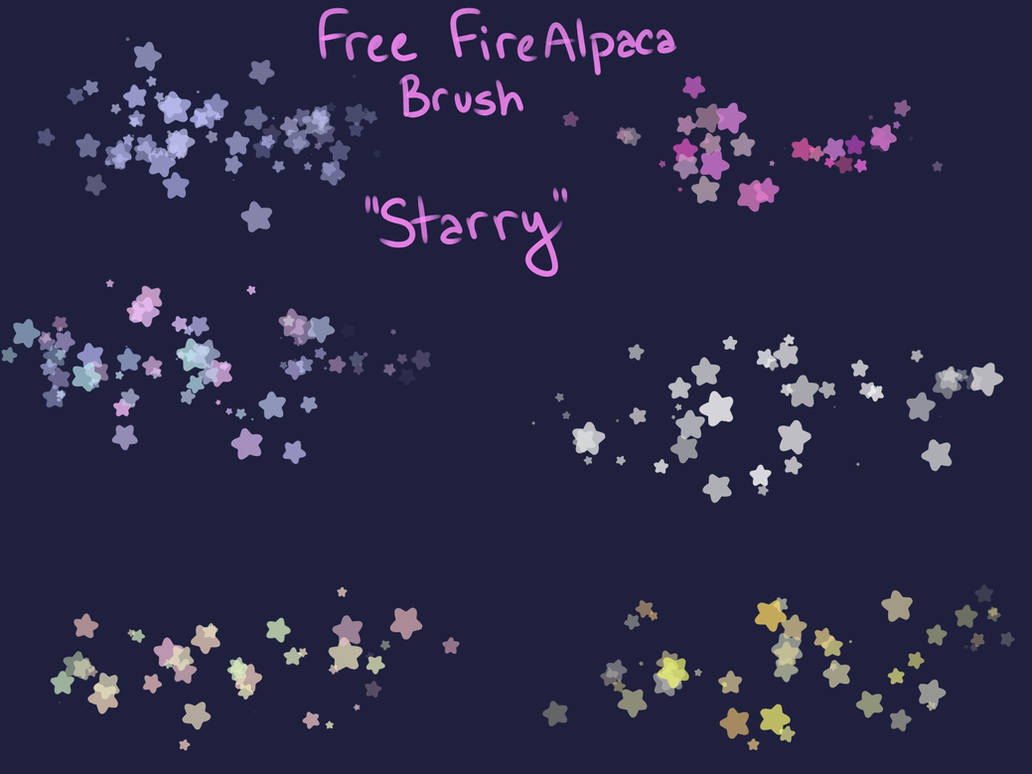 Free Starry Brush (FireAlpaca/Medibang) by Kittria