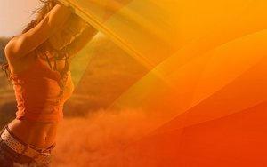 Aqua-Orange Megan Fox by RaatsGui