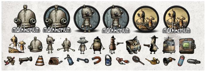 Machinarium icons by PJ-FRY