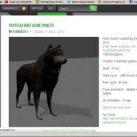 wolf download available on blendswap blender 2.61 by DennisH2010